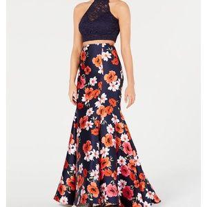 NWT B DARLIN 2 Pc Floral Prom Dress